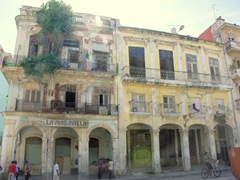 Fading facades of Havana's crumbling buildings