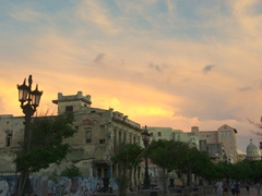 Sunset over the Prado