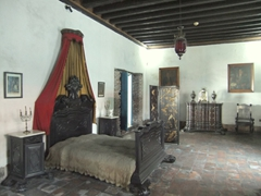 Bedroom view at Casa de Diego Velazquez, one of Cuba's best museums