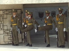 Changing of the guard ceremony at the Mausoleum of Jose Marti