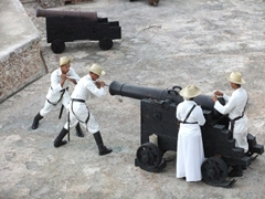We enjoyed the canonazo at Santiago's El Morro better than the one in Havana because it was way more picturesque