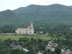 View of the Basilica del Cobre from the Loma del Cimarron Monumental Complex