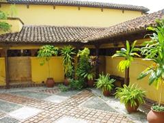 Interior courtyard of Museo de la Lucha Clandestina
