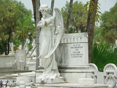 A marble statue at Cementerio Santa Ifigenia, where a lot of Cuban heroes are buried