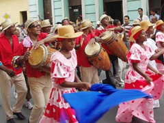 The Fiesta del Fuego parade must have stretched on for several kilometers, with many of the performers showing relentless energy