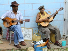 Local musicians filling the streets of Trinidad with lovely music