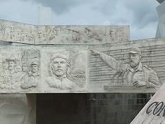 Bas reliefs of Che Guevara and Fidel; Plaza de la Revolucion