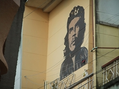 Che portraits are painted everywhere in Cuba