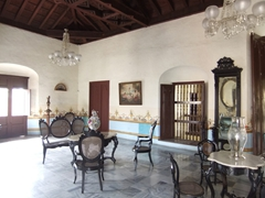 Interior view of Casa Natal Ignacio Agramonte, complete with vintage antique pieces; Plaza de Los Trabajadores