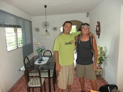 Tony Lozaro, our awesome Bayamo casa owner, poses with Robby as we bid him farewell
