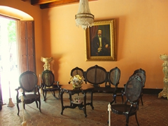 First floor room at Casa Natal de Carlos Manuel de Cespedes, one of a few buildings in Bayamo to escape its devastating 1869 fire