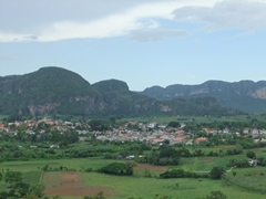 Mogotes dominate the Vinales skyline