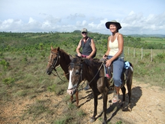 Taking a breather on our horse back ride through the countryside of Vinales