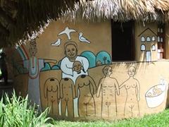 Wall mural at El Palenque de los Cimarrones; Vinales