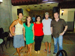 Becky, Kate, the lead singer for the Cuban band we enjoyed, Robby and Doug; Vinales