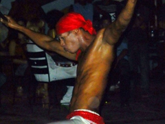 Interesting performances at a large open air discotheque; Vinales town square