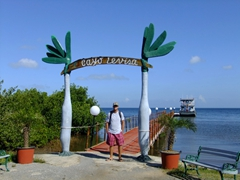 Robby stands at the pier leading towards Cayo Levisa
