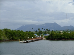 View of the mainland as we pull out to Cayo Levisa