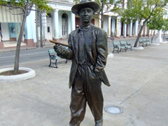 Bronze statue of Benny More (believed to be the greatest Cuban popular singer of all time); Cienfuegos