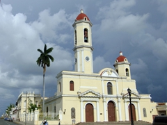 Cienfuegos cathedral on Plaza Marti