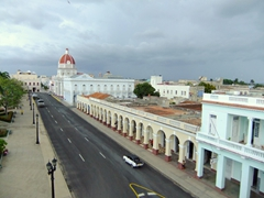 View of Cienfuegos from the top of Palacio Ferrer/Casa de Cultura
