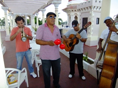 Cuban performers on the roof top of Palacio de Valle