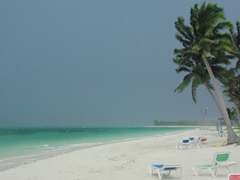 An afternoon thunderstorm is about to roll in; Cayo Levisa