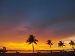 Sunset over Cienfuegos