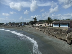 View of the beach from Matachin Fort (which now houses the Municipal museum)