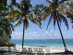 An inviting beach beckons at the Maguana Resort