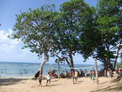 Beach party at Playa Manglito