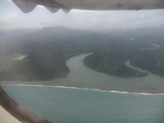 View of Baracoa on our flight to Havana
