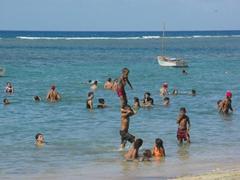 Cubans enjoying the beach at Playa Manglito