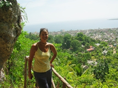 The view of Baracoa as seen from the lookout point of the Museo Arqueologico