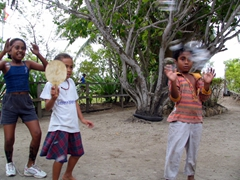 Kids playing around; Loloata Island