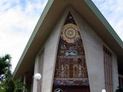 "PNG's Parliament House is designed after a ""haus tambaran"""