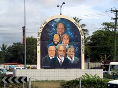 Happy 30th Anniversary sign in Port Moresby