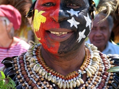 The face that launched 1000 magazine articles! A smiling Stephen graces the PNG 30th Independence Day Celebrations