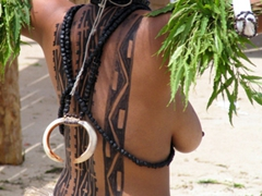 Ornate tattoos, Hiri Moale Festival