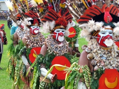 Just a small sample of Mount Hagen's incredibly ornate costumes