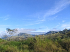 Overlooking the mountains near Goroka