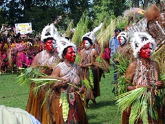 The red/white female tribe, Goroka Show
