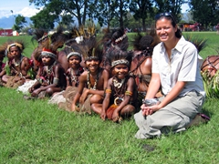 "The ""jail-bird tribe"" and Becky, Goroka Show"