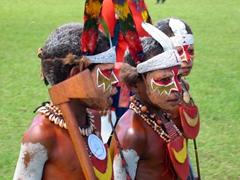 Young Mount Hagen boys in training! Goroka Show
