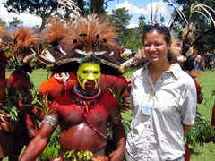 Becky's favorite tribe, the exotic Huli Wigmen