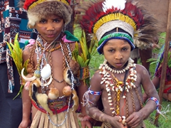 Regal looking children, Goroka Show