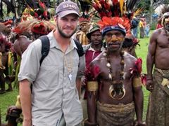 Robby having a blast at the Goroka Show