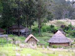 Goroka style housing (the round houses trap in heat and are better suited in the highlands)