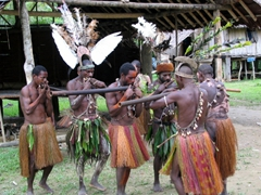 Traditional flute ceremony, Amungari Village