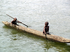 Even young boys make paddling a canoe look easy